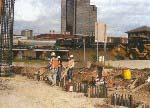 BNSF, Cimentación de columnas perforadas