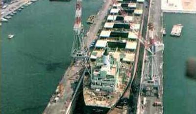 Port of LivornoDry-dock Italy